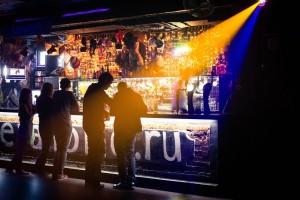 drinking in a club
