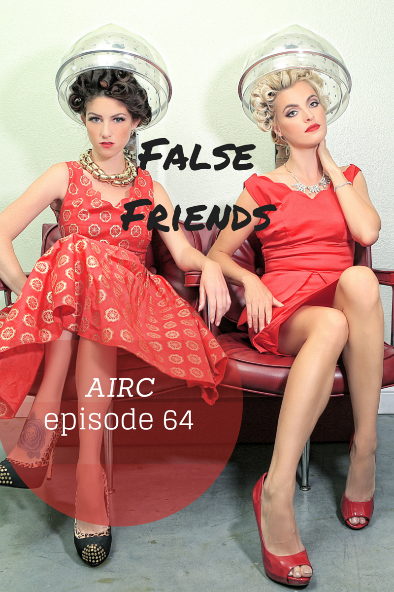 false friends False friends is a linguistics term given to words or letters that have similar appearance, but are pronounced differently there are 9 such false friends between russian and english: в, ё, н, р, c', у and х.