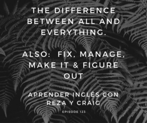 The difference between ALL and EVERYTHING | FIX, MANAGE, MAKE IT and FIGURE OUT – AIRC123