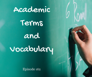 Academic Terms and Vocabulary – AIRC162