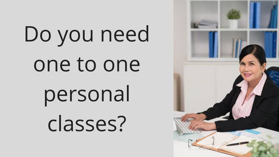 do you need one to one personal classes