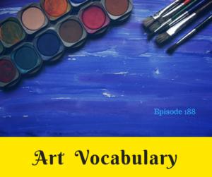 art vocabulary