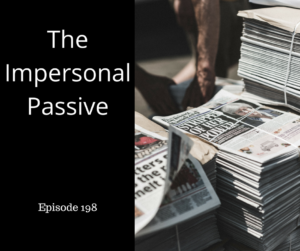 The Impersonal Passive – AIRC198