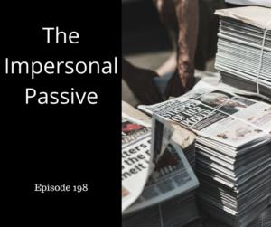 impersonal passive