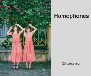 Homophones – AIRC235