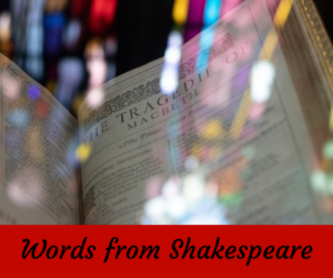 Words from Shakespeare – AIRC233