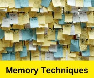 Memory Techniques – AIRC314