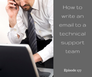 How to write an email to a technical support team – AIRC177
