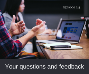 Your questions and feedback – AIRC213