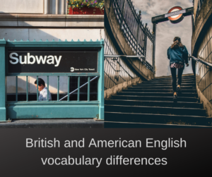 British and American English vocabulary differences – AIRC288
