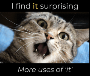 I find it surprising – more uses of IT – AIRC352