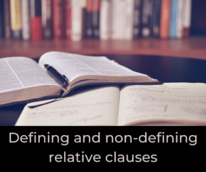 Defining and non-defining relative clauses – AIRC354