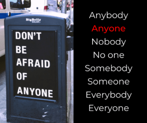 Anybody, anyone, nobody, no one, somebody, someone, everybody, everyone – AIRC368